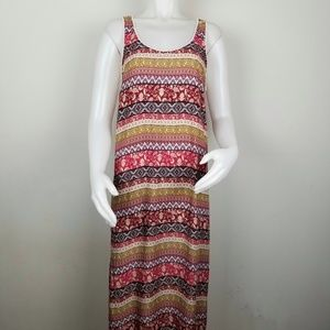 Forever 21 M Colorful Boho Maxi Dress